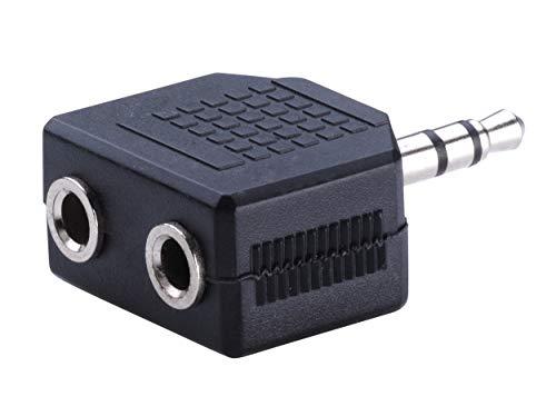 KTX7® Kopfhörer 2-Fach Adapter - 3,5mm Stecker/2x 3,5mm Buchse (1 Stück)
