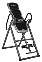 Adjustable headrest pad with large and comfortable padded backrest. Six (6) position Adjustable pin system with added Patent Pending Protective Cover for easy positioning and safer inverting over strap systems True Balance system for easy inverting w...