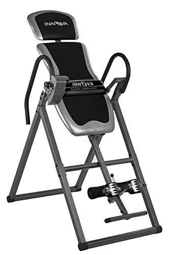 Innova Inversion Table with Adjustable Headrest, Reversible Ankle Holders, and 300 lbs...