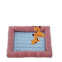 暑い夏に最適なペット活性化ゲル冷却マットペットマット用の冷却マット縫製冷却パッド (色 : ピンク, サイズ : ワンサイズ)