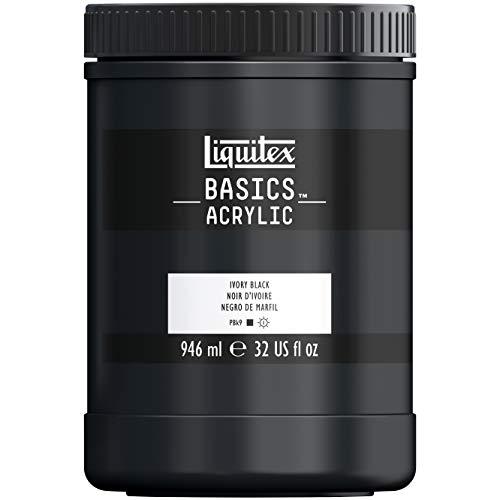 Liquitex Acrylique Basics Pot 946 ml Noir Ivoire