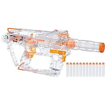 Evader Modulus Nerf Motorized Light-Up Toy Blaster Includes 12 Official Nerf Darts 12-Dart Clip Light-Up Barrel Extension Multicolor  Amazon Exclusive