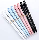 GANSSIA Mechanical Pencils Black 0.5mm Point Lead Barrel Automatic Pencil for Drafting Assorted Color Pack of 8pcs