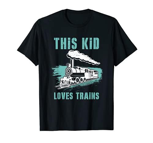 This Kid Loves Trains I Kinder Zug I Eisenbahn & Dampflok T-Shirt