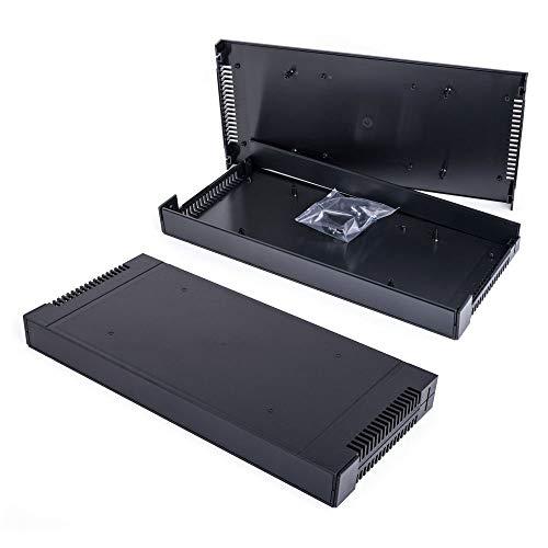 G17081UBK 19 Zoll ABS Gehäuse 1HE Rack Case schwarz Leergehäuse Gainta