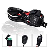 10ft LED Light Bar Wiring Harness Kit 16AWG, YUGUANG 2 Lead with 2 Meter Universal Led Wiring Harness 12V 40Amp Relay Power Switch, 2 Years Warranty