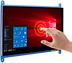 kuman 7 Inch Capacitive Touch Screen IPS LCD Display HDMI Module 1024x600 for Raspberry Pi 4 B 3 2 1 B B+ A with BB Black PC Various Systems SC7B