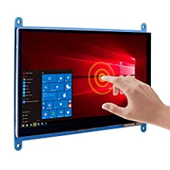 Plug and Play Ports►This Raspberry pi touch screen has 2 micro USB ports for Power and Touch, and 1 HDMI port for Signal. It is plug and play monitor, please make sure you connect the cable correctly. IPS Screen Wider Viewing Angle►This IPS screen wi...
