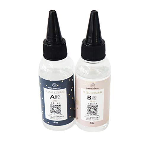 Ultra-Transparant AB Kristal Lijm Twee Component Epoxy Resin Sealant Sneldrogend 1:1/3:1-70X30