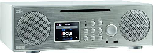 Imperial 22-248-00 Dabman i450 CD Internet-/DAB+ Radio (2.1 Sound,Bluetooth,Internet/DAB+/DAB/UKW,WLAN,LAN, CD, USB,Aux In,Line-Out,inkl. Netzteil) silber-weiß