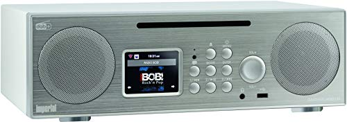 Imperial 22-248-00 Dabman i450 CD Internet-/DAB+ Radio (2.1 Sound,Bluetooth,Internet/DAB+/DAB/UKW,WLAN,LAN, CD, USB,Aux In,Line-Out,inkl. Netzteil) silber-weiß
