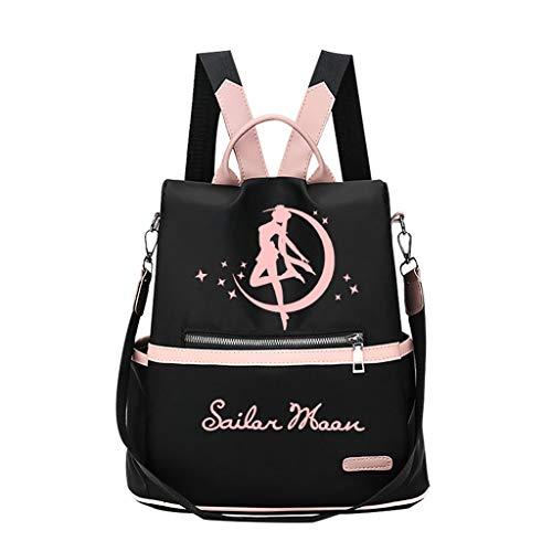 ZXJWZW Cartoon Anime Rucksack Sailor Moon Rucksack Kind Mädchen Junge Casual Schoolbag Schultern Tasche
