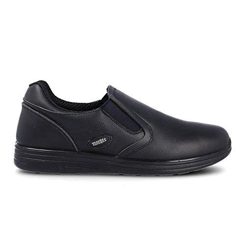 Orion Schuhe für Gastronomie, bequem, elastisch, leicht, waschbar, Schwarz