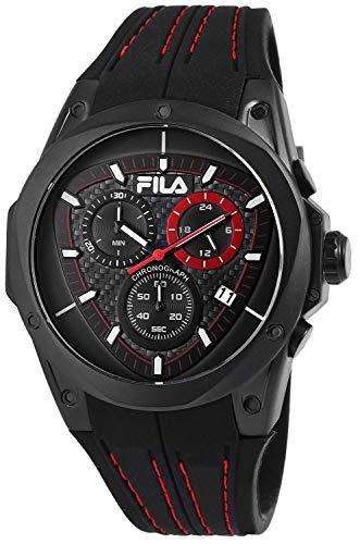 Fila Unisex Erwachsene Analog Quarz Uhr mit Silikon Armband FILA38-821-004
