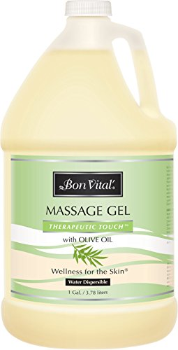 Lowest Price! Bon Vital' Therapeutic Touch Massage Gel Made with Olive Oil to Repair Dry Skin & Soot...
