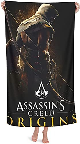 Assassin's Creed - Toalla de playa para niños (1,70 cm x 140 cm)
