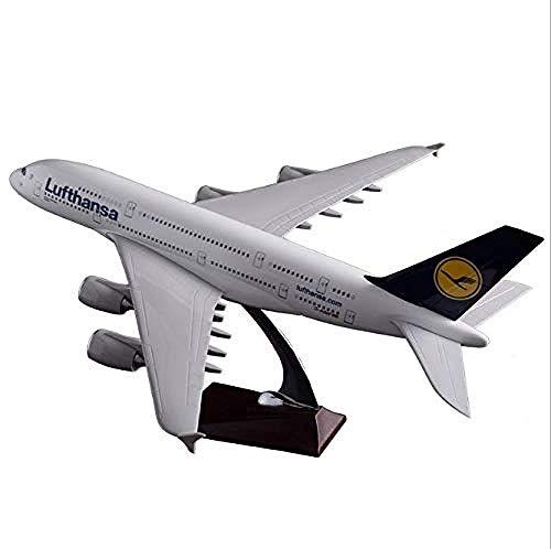 NUOYAYA Druckguss Flugzeug Metall Flugzeug Modelle Flugzeugspielzeug Kit A380 Lufthansa Harz Handwerk 45 cm Handwerk Retro Metall Souvenir WohnkulturSpielzeug Airbus