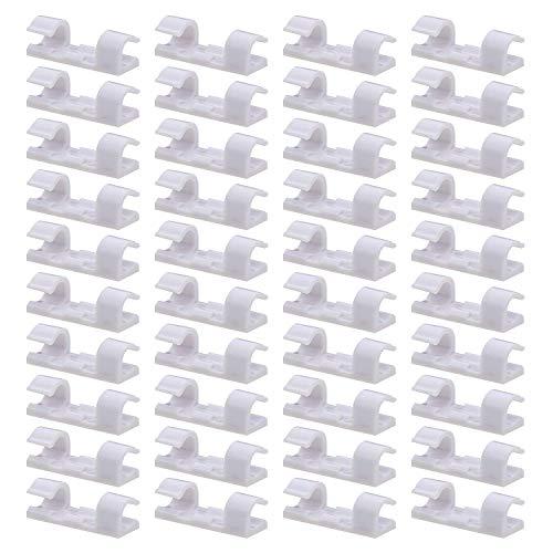ZWWZ Paquete de 30 Clips Transparentes para Cables,Fuerte Soporte Autoadhesivo para Cables de Bajada