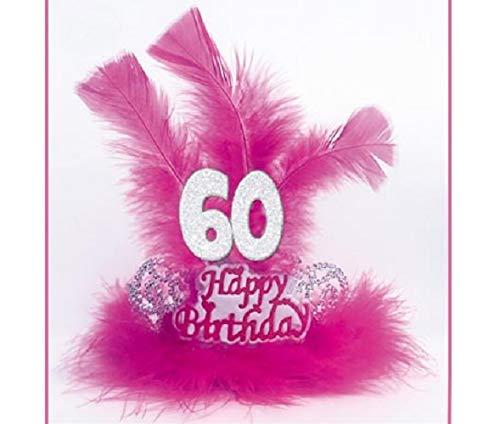 TIARA con Marabù e Piume 60 ANNI - Accessori Festa 60° Compleanno