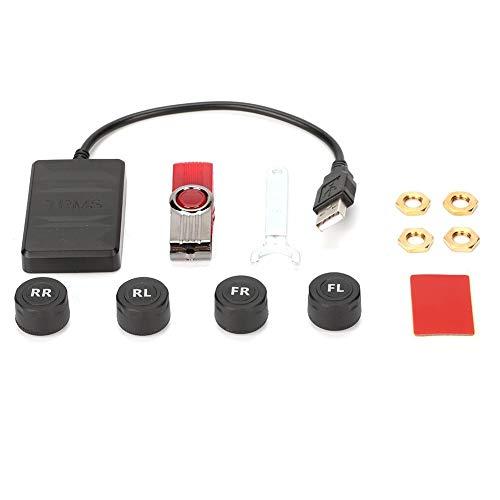 Sistema de monitoreo de presión de neumáticos Alarma de monitoreo de TPMS USB para coche con sensor externo para navegación Android para todos los automóviles
