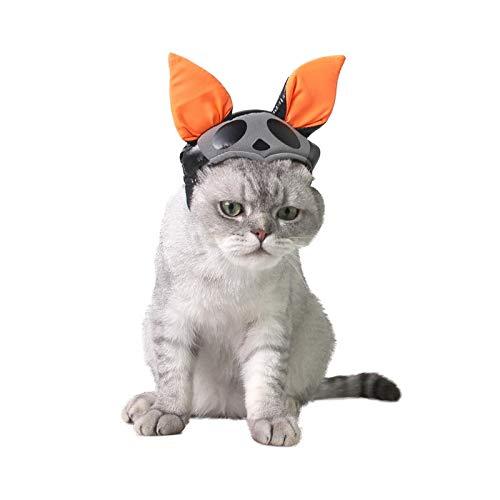 JBPX Cosplay vleermuis vorm huisdier kat hoed vouwen oor hoed kat kleding kostuum pet halloween partij voor huisdier, 14x12cm, 1
