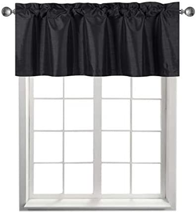 Rama Rose Blackout Curtain Valance for Bedroom Narrow Faux Silk Topper Valence for Small Window product image