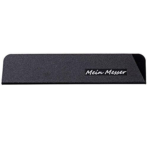 GRÄWE Klingenschutz 22 × 5 cm - Messer-Schutzhülle aus Kunststoff mit Samt-Beschichtung innen, schwarz