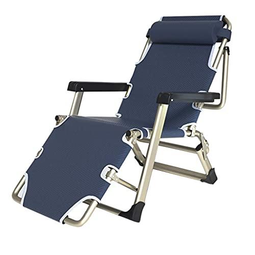 Silla de Oficina reclinable para Adultos, tumbonas y sillones reclinables de Metal Plegables para Espacios pequeños, tumbonas de Patio al Aire Libre para Acampar en la Playa