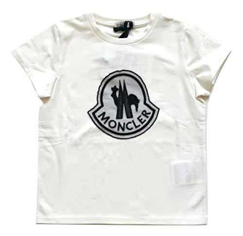 Moncler Junior - Camiseta de manga corta para niña con logotipo 8069505, azul y blanco blanco 6 años
