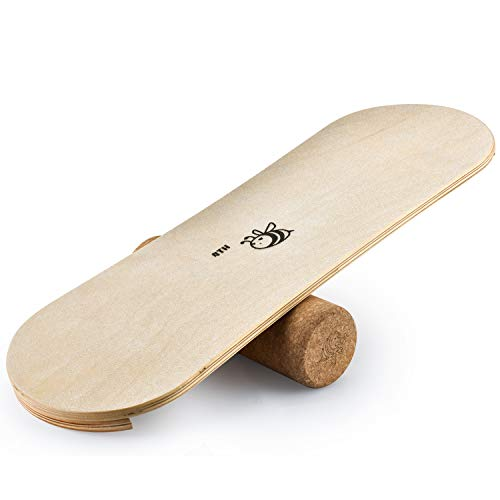 4TH Core Balance Board for Exercise Training-Board Exercise for Fitness with Roller- Board Balancing for Surf,Ski, Snowboard and Skateboarding.