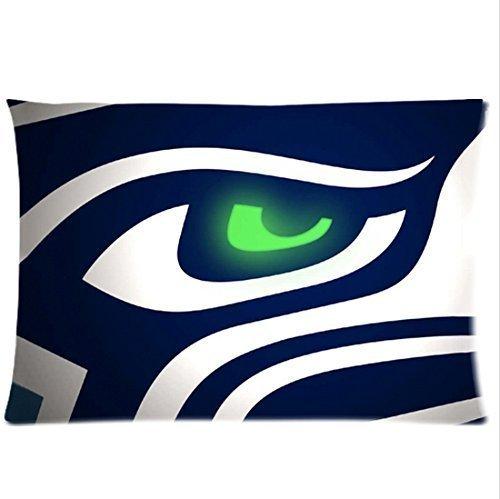 Bedroom Decor Custom American Football Seahawks Printing Pillowcase Zippered Rectangle Pillowcases Throw Pillow Covers Kissenbezüge (50cmx65cm)