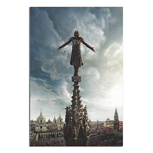 Poster de film Assassin's Creed sur toile pour bureau, chambre à coucher, décoration murale, 20 × 30 cm