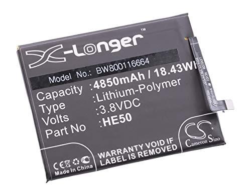 vhbw Li-Polymer Akku 4850mAh (3.8V) passend für Handy Smartphone Handy Motorola Moto E4 Plus, XT1770, XT1771, XT1775