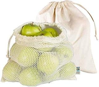 Obst- und Gemüsebeutel, Bio-Baumwolle, 2 Stück