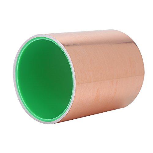 Dilwe Copper Foil Tape, Multi gebruikt sterke lijm geleidende koper tape met dubbelzijdig voor Guitar EMI afscherming elektrische reparaties