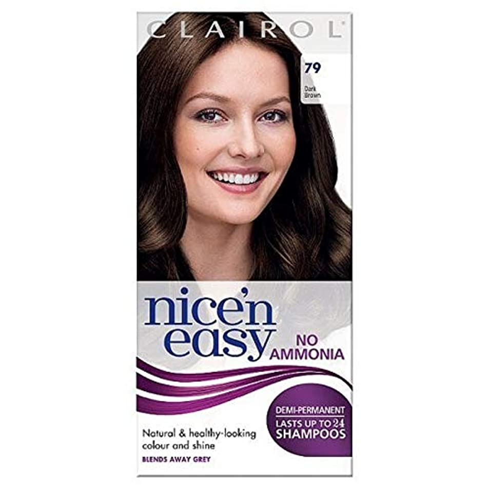 麻酔薬葉っぱ手段[Nice'n Easy] Nice'N簡単に何のアンモニアの染毛剤ませんダークブラウン79 - Nice'n Easy No Ammonia Hair Dye Dark Brown 79 [並行輸入品]