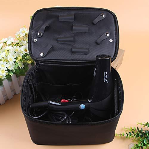 Beauty Barber Tool Bag Salon Salon de coiffure Salon de coiffure professionnel Boîte à outils de stockage,Noir,30x19x21cm