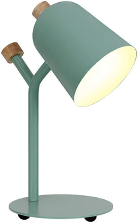 HBLWX Macaron Tischlampe, Nachttischlampe aus Metall, Eisen, Kunst, einfache, Moderne Dekoration für Wohnzimmer, Schlafzimmer, Arbeitstisch