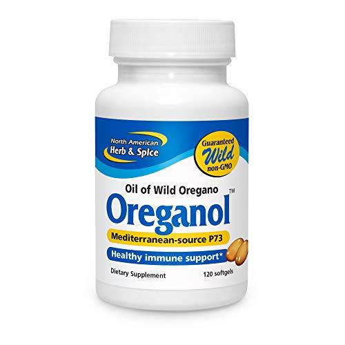 North American Herb & Spice Oreganol P73-120 Softgels - Immune System Support - Unprocessed, Vegan Friendly Wild Oregano - Mediterranean Source - Non-GMO - 120 Servings
