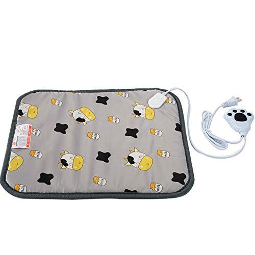 Lodevin Haustier-Heizdecke, spezielle konstante Temperatur für Hunde und Katzen, kleine Hunde und kleine Hunde, Wärmeisolierung für Katzenstreu, eine Farbe, neun Feilen, 40 x 60 cm