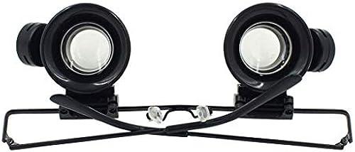 Gtt LED-Leuchtlupe mit Augenlupe Doppelkopflupe zum Lesen und Prüfen