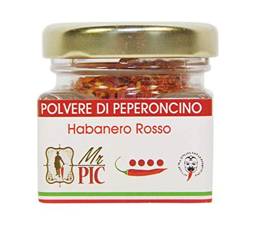 Polvere di peperoncino Habanero Rosso (15 g) - Mr PIC: il Peperoncino Toscano di alta qualità - Carmazzi: la più ampia linea di prodotti piccanti in Italia
