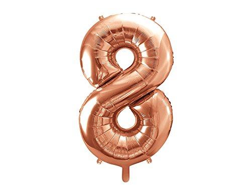 XXL folieballon/getallen in roségoud/verjaardag/jaar/jubileum/leeftijd/decoratie, oudejaarsavond bruiloft verjaardag