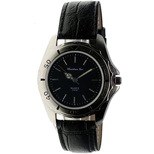 Christian Gar Cg-18150-10 Reloj Analógico para Hombre Colección Classic Caja De Acero Inoxidable Esfera Color Negro