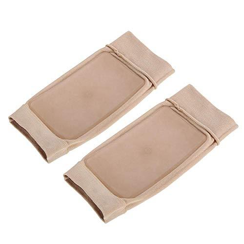 Uxsiya 1 par hälspricka strumpa fotskydd elastisk silikon för ankelområdet för smärtlindring (fyrkantig silikon)