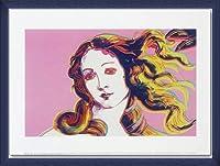ポスター アンディ ウォーホル Details of Renaissance Paintings (pink) 額装品 ウッドベーシックフレーム(ブルー)