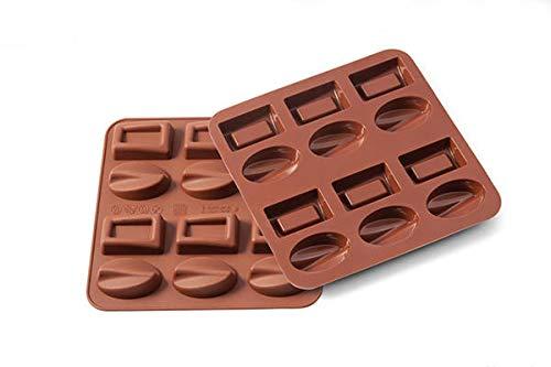 Silikomart Wonder Cakes by 22.502.77.0069 Moule en Silicone Liquide, Forme Praline, Marron, 1,2 x 15,5 x 16,3 cm