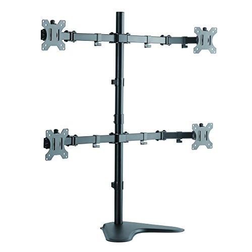 LogiLink BP0046 4-fach Monitor-Schreibtischständer 33-81,3 cm (13-32 Zoll) schwarz
