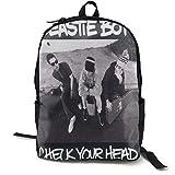 Mochila clásica para niños de la marca N / A Beastie Boys Check Your Head, color negro, para viajes de trabajo, de poliéster, unisex
