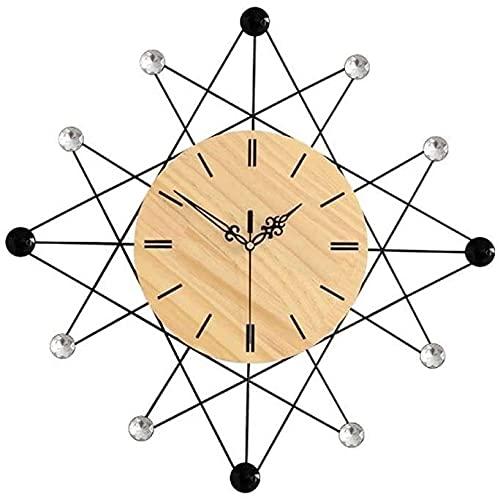 Nileco Reloj de pared creativo reloj de pared sala de estar elegante reloj minimalista decoración del hogar reloj de cuarzo D60CM